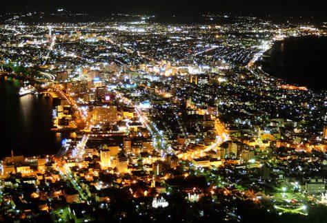 從函館山上欣賞的夜景